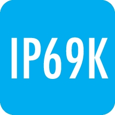 Degree of protection: IP69K