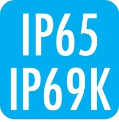 Schutzart: IP65 / IP69k