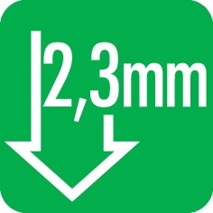 Hub: 2,3 mm