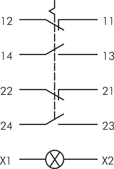 Schlegel Bfl5 439 Au Illuminated Contact Block Maintained