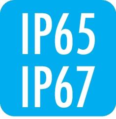 Schutzart: IP65 / IP67 (von vorne und hinten)